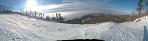 Panorama above the clouds, Mount Bohemia photo