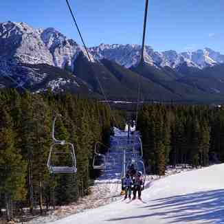 Beautiful view from lift, Nakiska