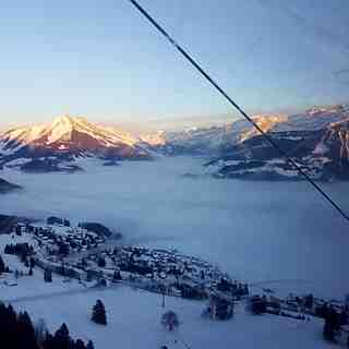 A sea of fog, Leysin