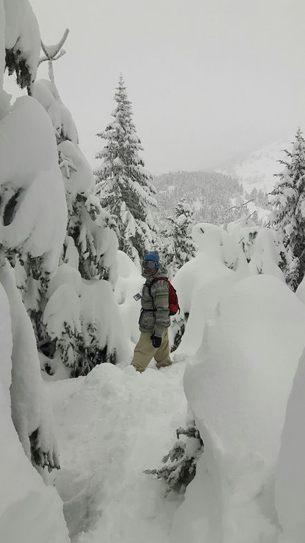 Lost in the powder, Mainalo Greece