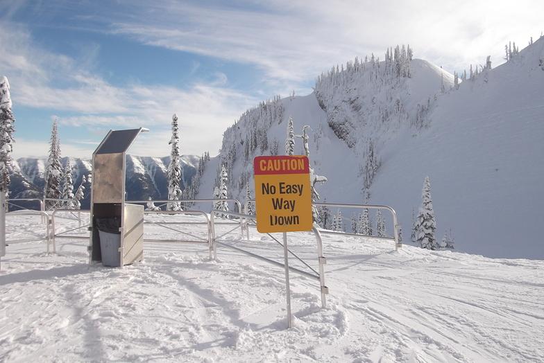 At the Polar Peak Chair (It made me smile), Fernie