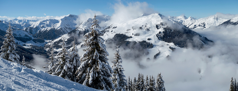 New snow above Hinterglemm, Saalbach Hinterglemm