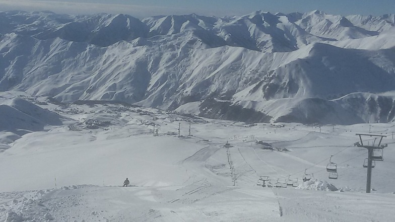 View from top right lift, Gudauri