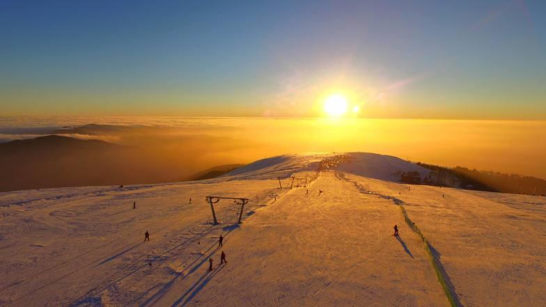Muntele Mic snow