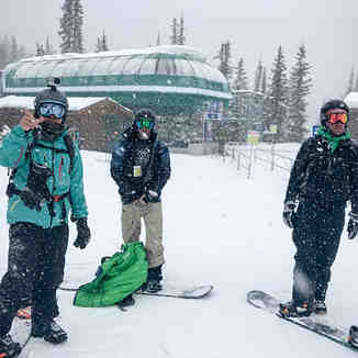 Snowing in Lake Louise