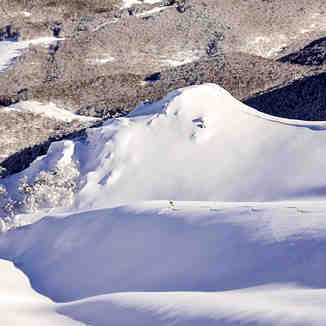 Fresh tracks in Italian Ski Resort, Roccaraso