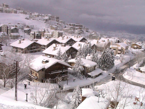 the Cedars village after the first storm of the season