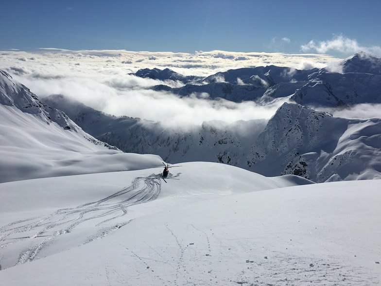 heli pad, Northern Escape Heli Skiing