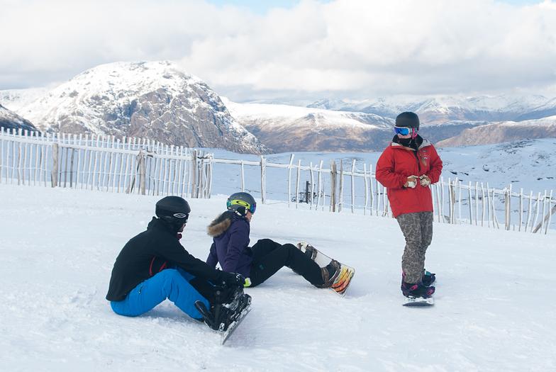 Snowboarding at Glencoe Mountain Resort