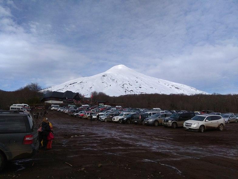 Jul, 11th around 1p.m. pucon ski resort parking lot., Villarrica-Pucon