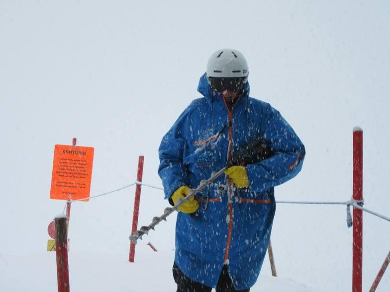July snow on Hintertux Glacier