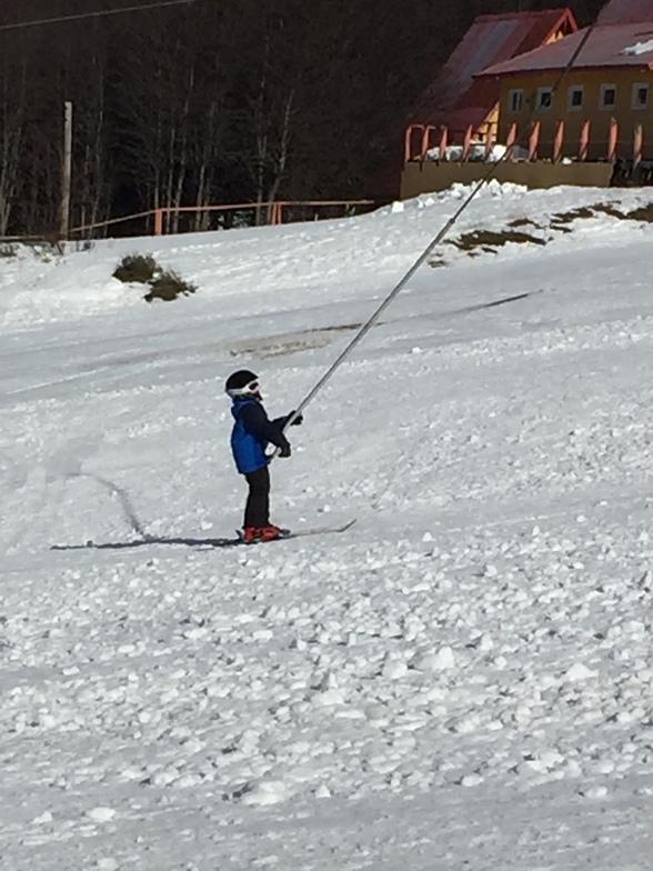Marcelo , aprendiz de esquiador, El Fraile