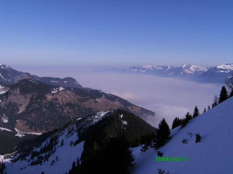 clouds above Lake Geneva, Morgins - Les Portes du Soleil