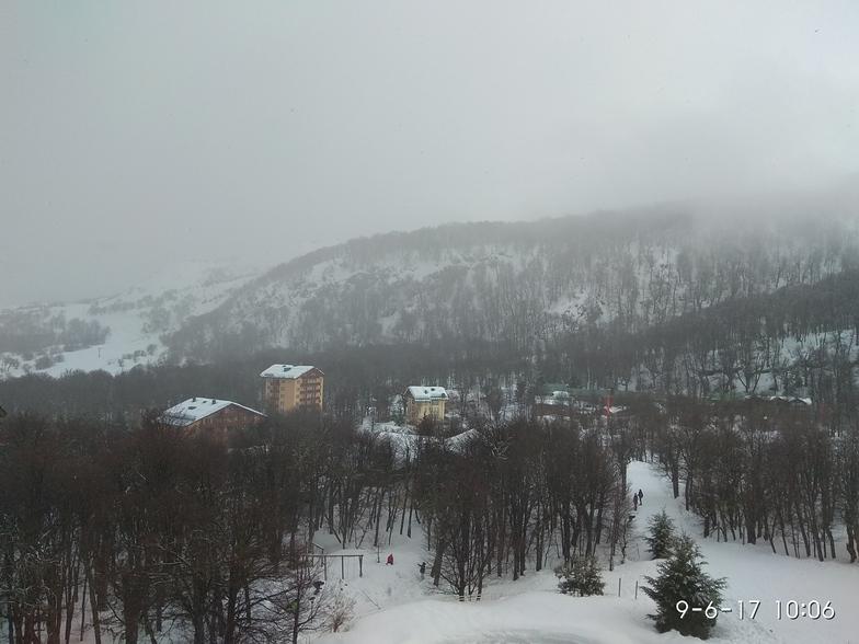 Unexpected snow, Nevados de Chillan