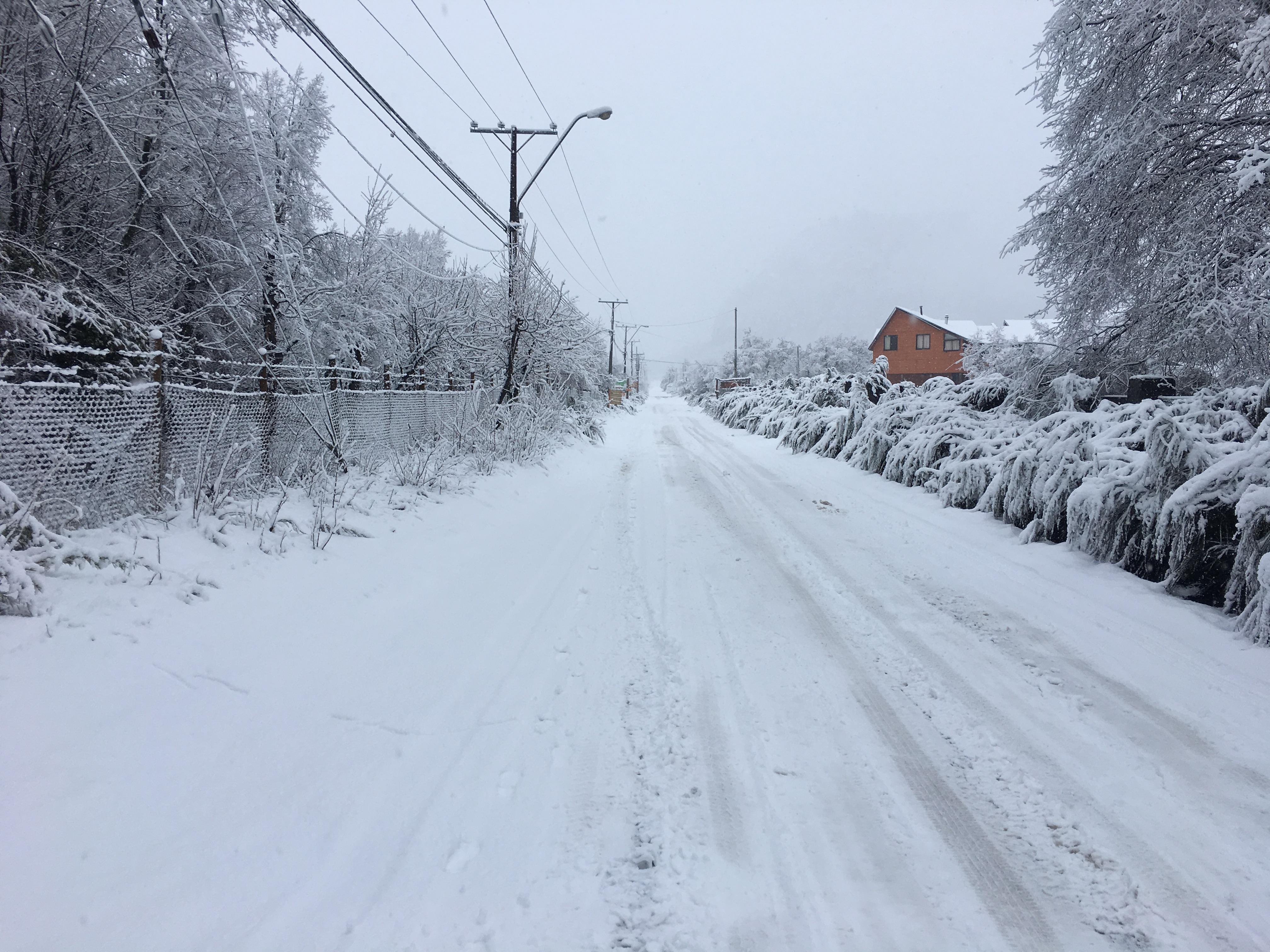 Overnight snow in Chillan, Nevados de Chillan
