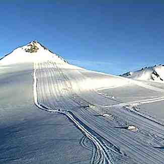 Summer skiing at Stevio Pass, Passo Dello Stelvio Stilfserjoch
