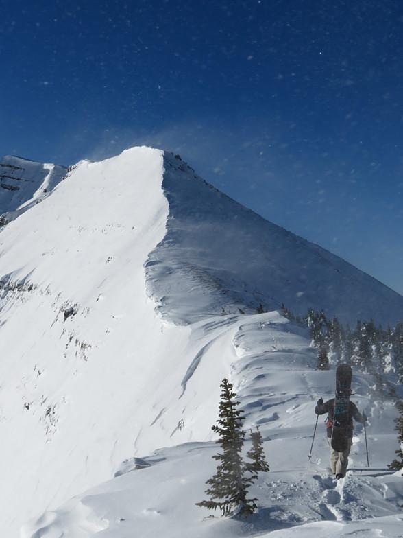Bootpaking to Cody Peak, Jackson Hole