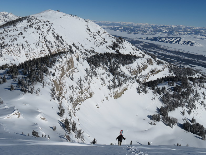 Hiking to Powder 8, Jackson Hole