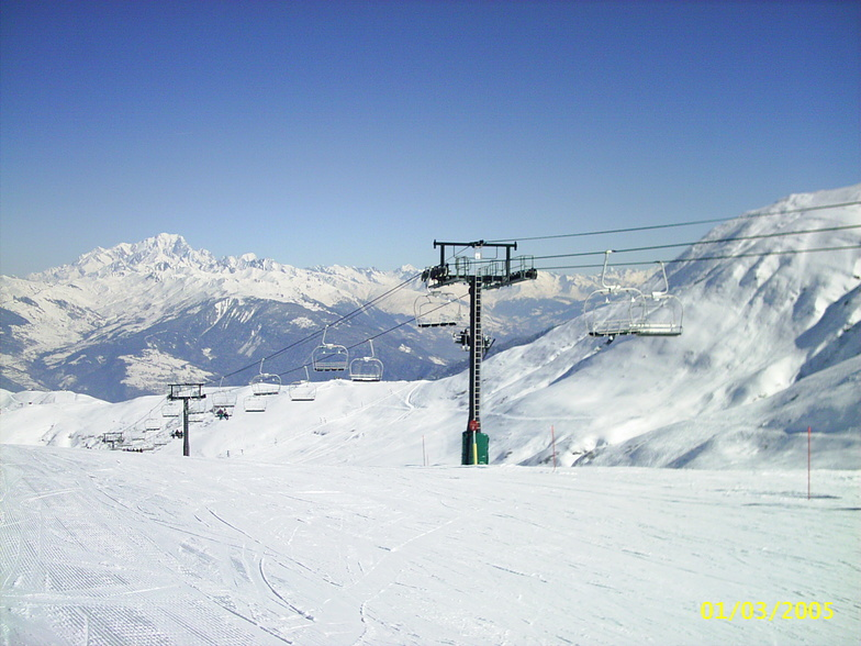 "Mont Blanc from ""Le Grand Domaine"", Valmorel"