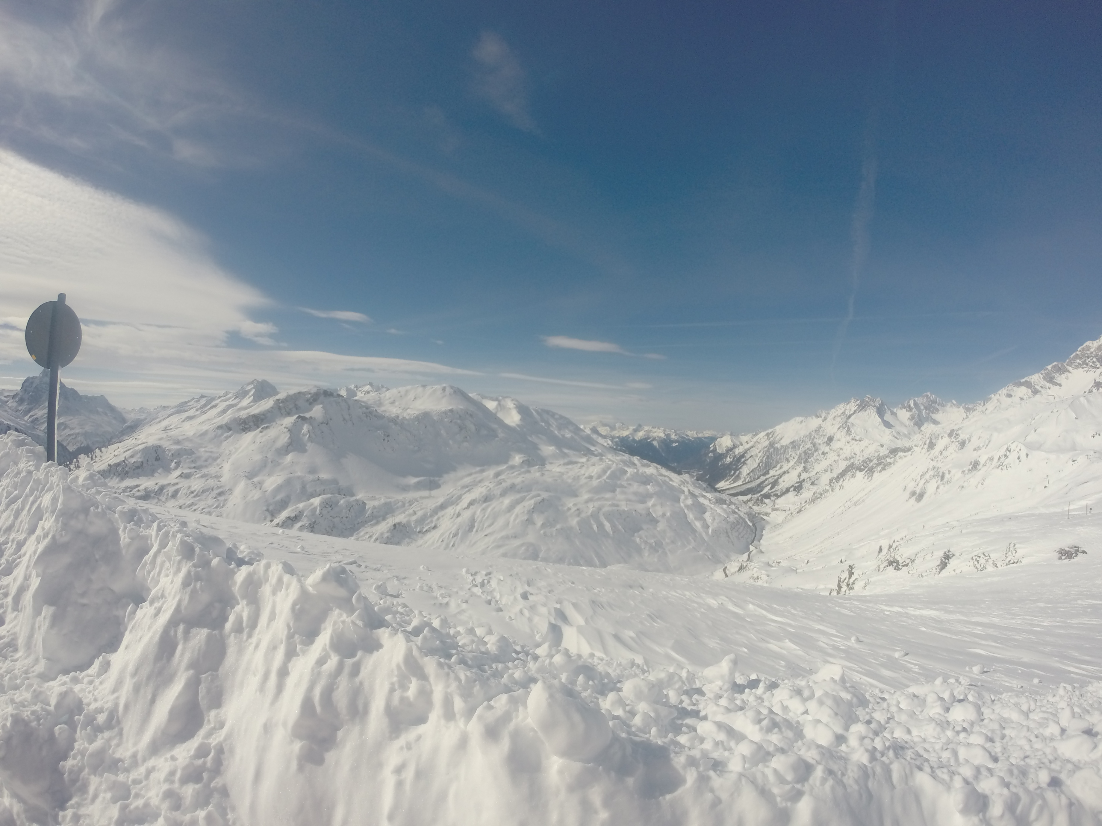 The day after the night of snow, St. Anton