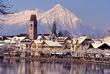 Fresh snow in Interlaken, Kandersteg