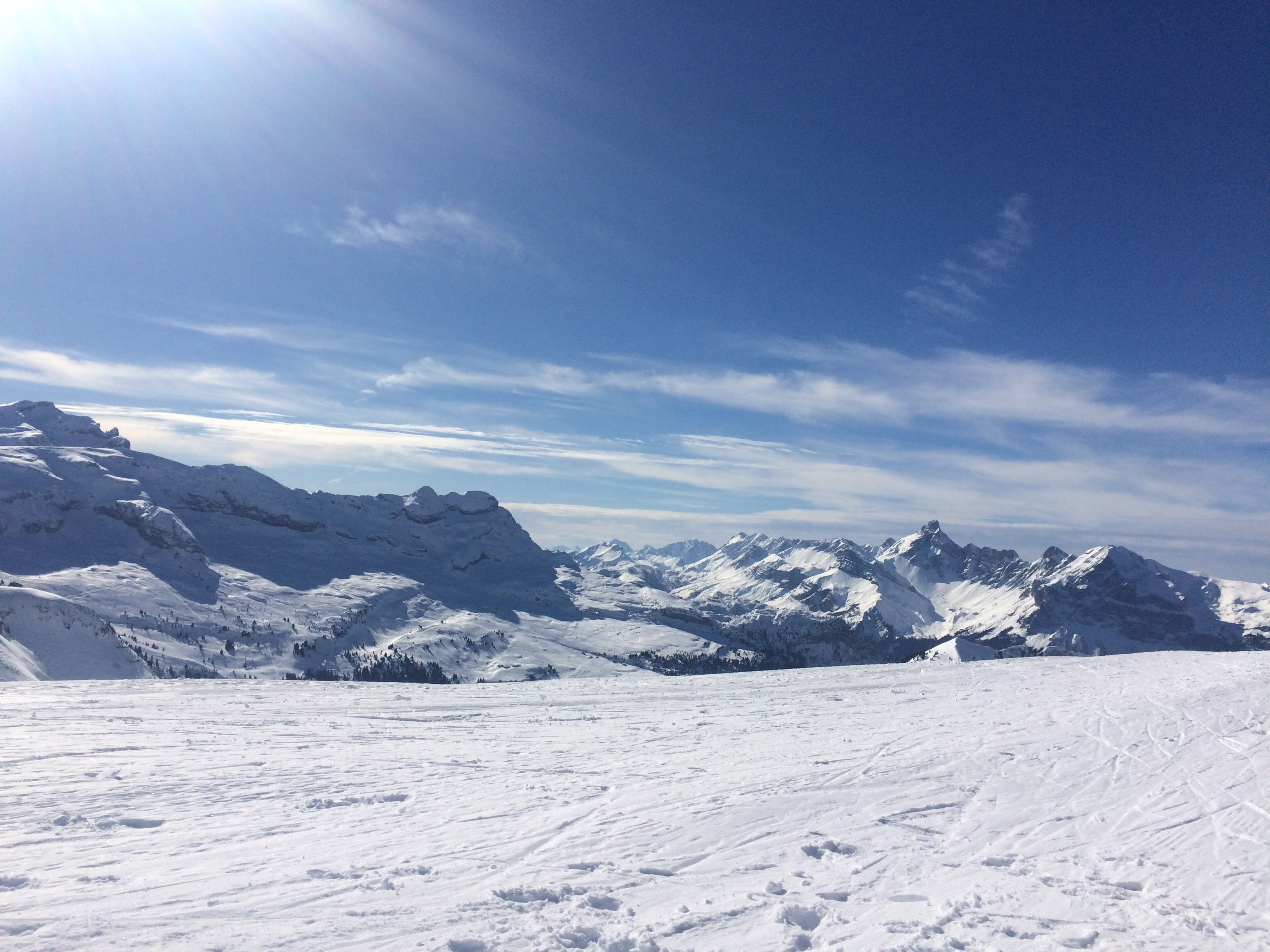 View from Les Grandes Platieres, Flaine