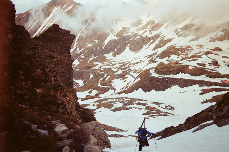 Ascent on the Balea ridge, Bâlea Lac
