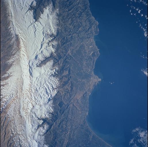 Mount Lebanon from space!!, Mzaar Ski Resort