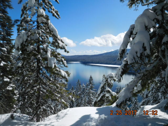 Odell Lake Overlook, off Gold Park Sno Park, Willamette Pass