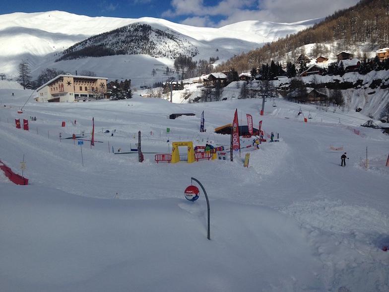 La Foux children's ski club area, Val d'Allos – La Foux (Espace Lumière)