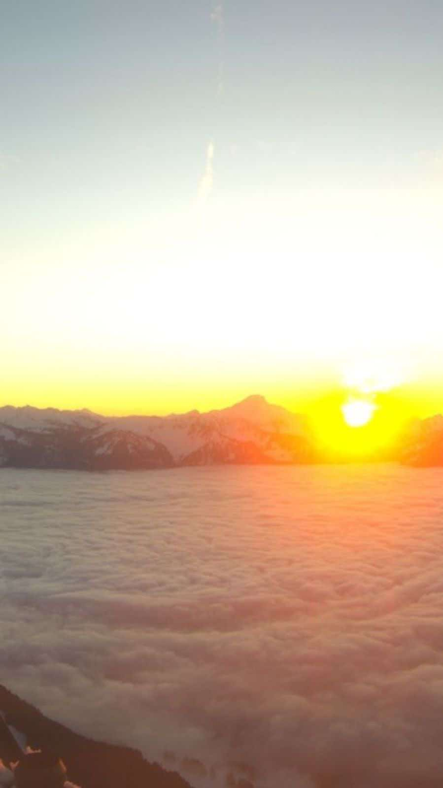 Sunset from above the clouds, Leysin
