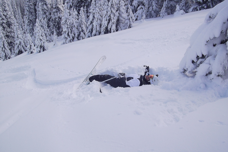 Resting on the Gil's, Sun Peaks