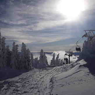 Starting to ghost at Crystal, Sun Peaks