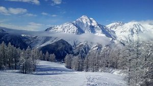 Lovely long red run, San Sicario (Via Lattea) photo
