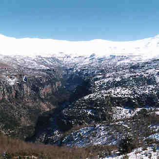 Another view of Qadicha valley, Lebanon, Mzaar Ski Resort