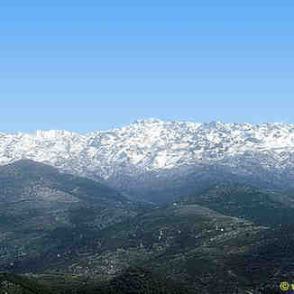 View of Laqlouq mountains, Lebanon, Mzaar Ski Resort