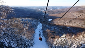 going up, looking back, Smuggler's Notch photo