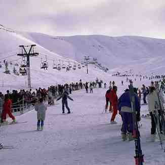Busy day in Faraya, Lebanon, Mzaar Ski Resort