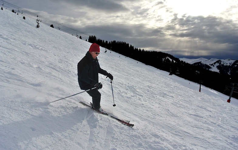 Opa Ben on the Mont Joux 06 February 2018, Saint Gervais