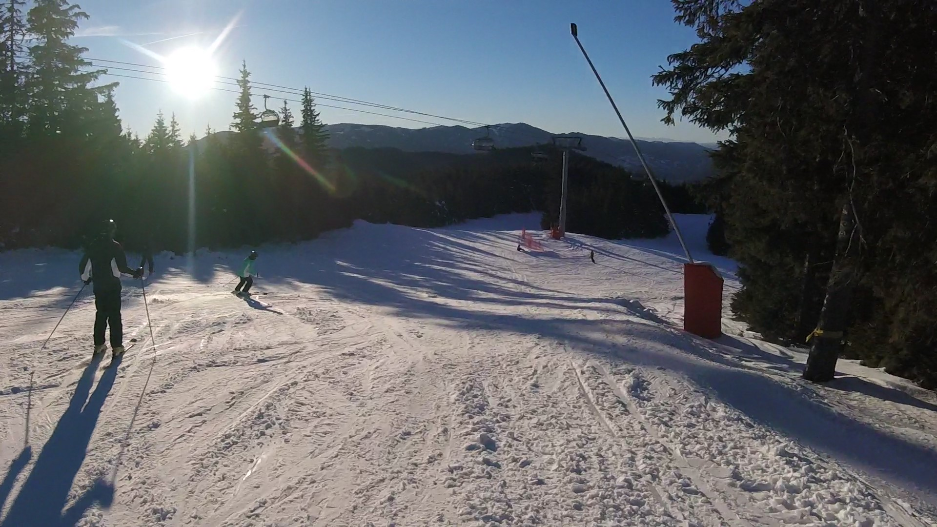 Towards the end of the day, at Pamporovo