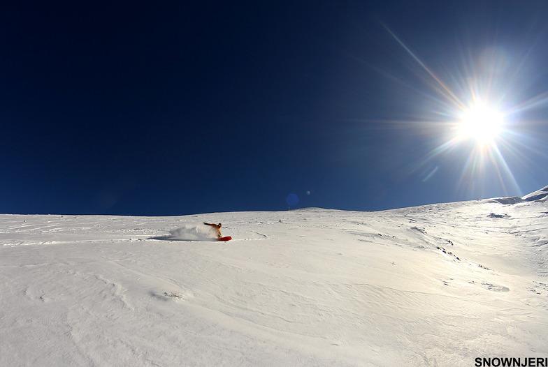 The snow surfer, Brezovica
