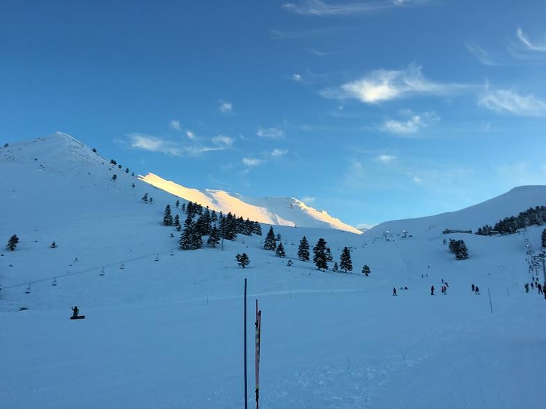 Abend in Helmos, Kalavryta Ski Resort
