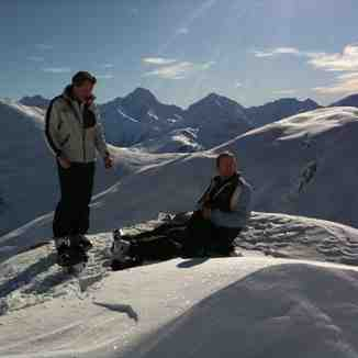 Marc & Shaun on the Sarenne, Oz en Oisans