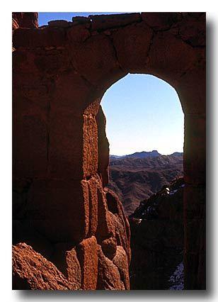 Mt. Sinai arch, late April, Egypt, Jabal Katherina