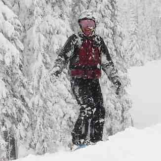 Plenty of snow in Big White, BC, Canada.