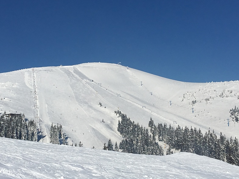 View of Drahobrat slopes on early spring sunny day