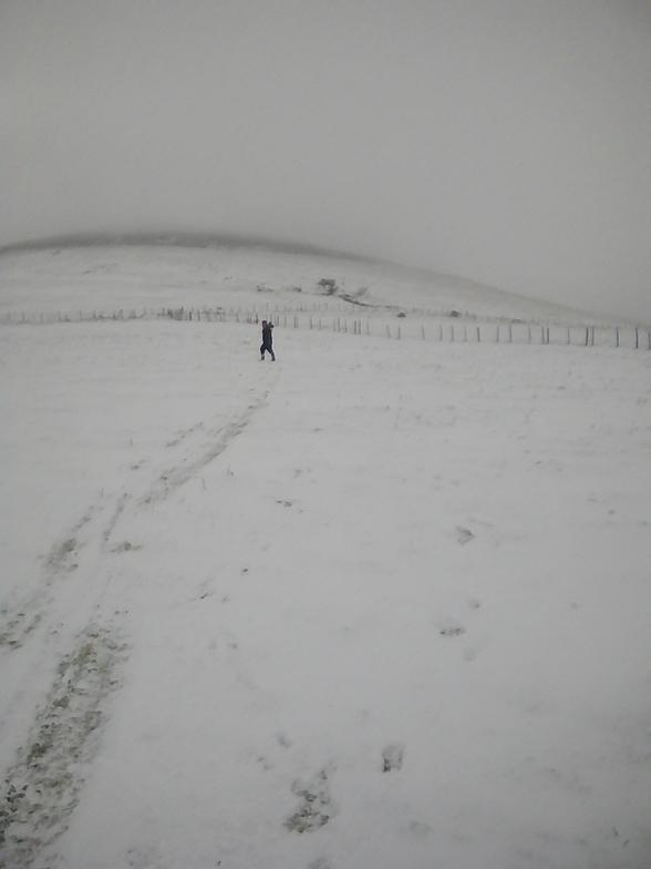 Doing the boardwalk!, Knockanaffrin (Comeragh Mts)