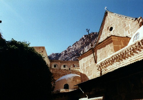 St.Catherine monastery in the heart of the Sinai mts, Egypt, Jabal Katherina
