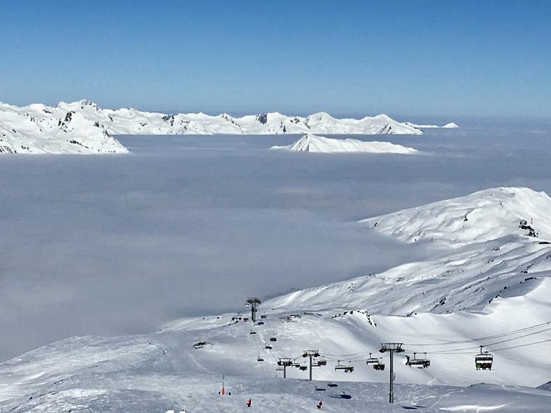When our mountain peaks look like islands, Méribel