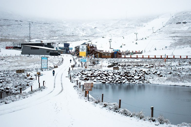 Snow falling at Afri-Ski, Afriski Mountain Resort